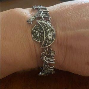 Sterling silver Marcasites stone vintage bracelet